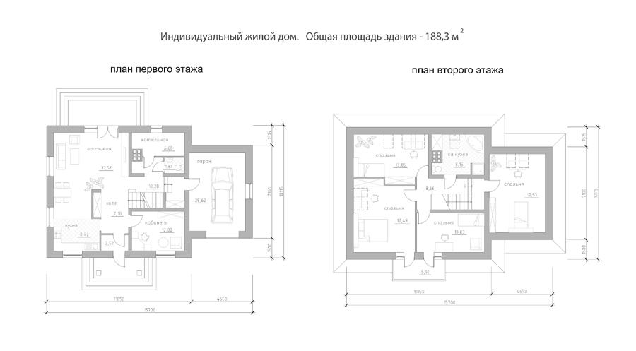 Инд. жилой дом 188 кв.м.