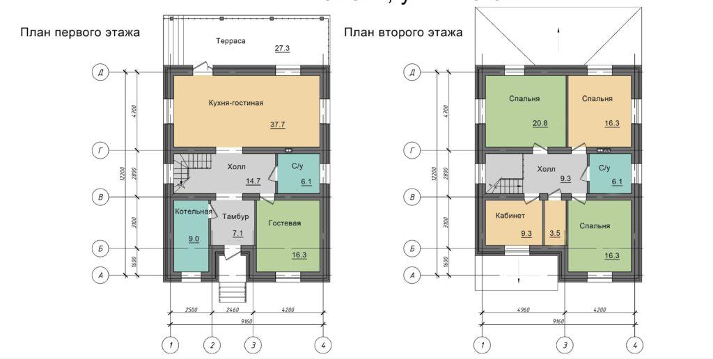 Инд. жилой дом 225 кв.м, г. Тюмень