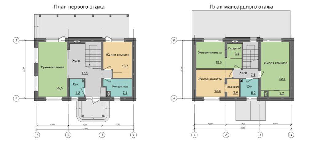 Инд. жилой дом 182 кв.м, с. Кулига